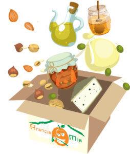 scatola prodotti tipici - Arancia Mia